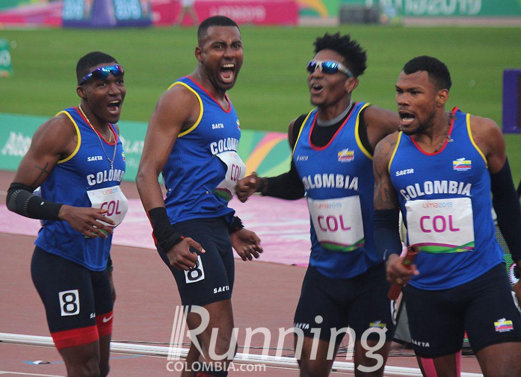La notable posta 4x400 del atletismo colombiano 1